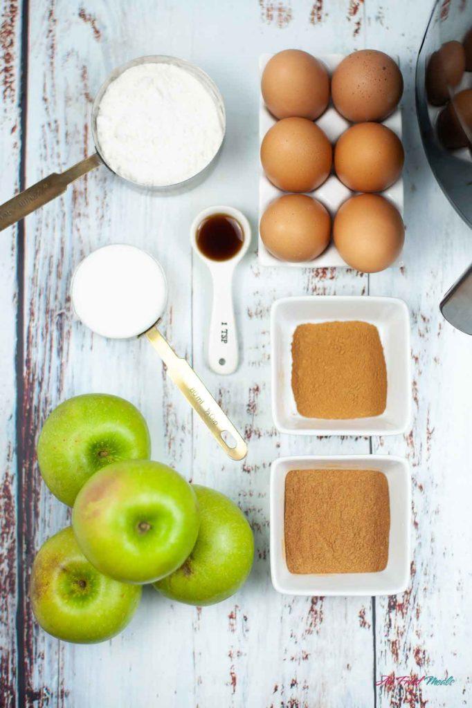 Apple fry ingredients.